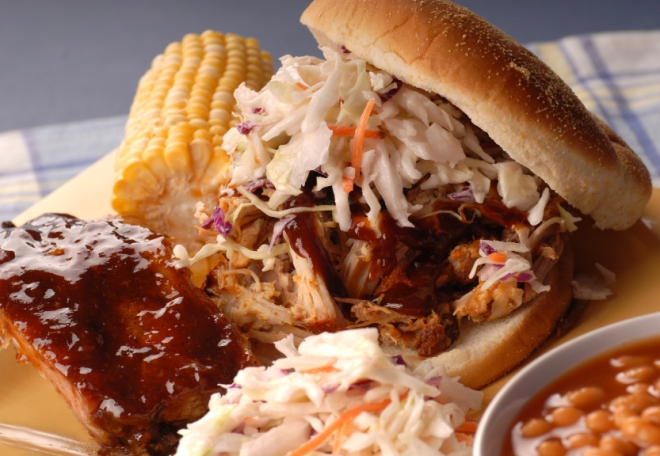 It's not just food: it's your personal protective platter. Corn on the cob, cole slaw, and spicy sauces all contribute protective energy.