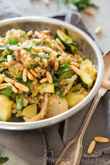 freekeh with fennel