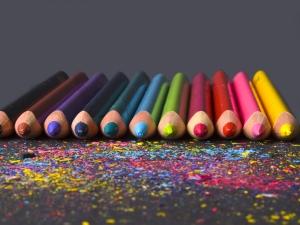 pencils on dark background