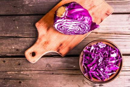 red cabbage on the counter