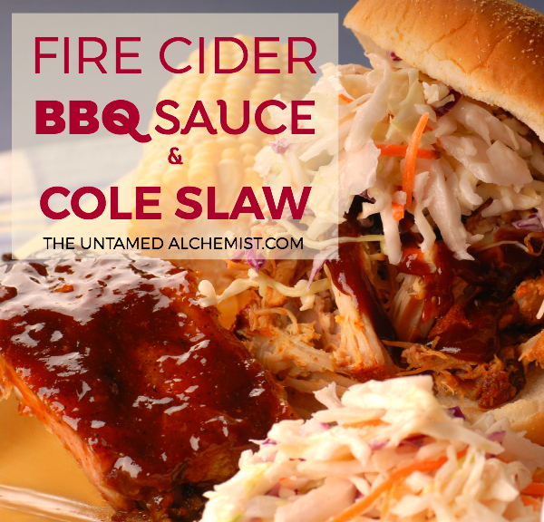 fire cider bbq sauce and cole slaw