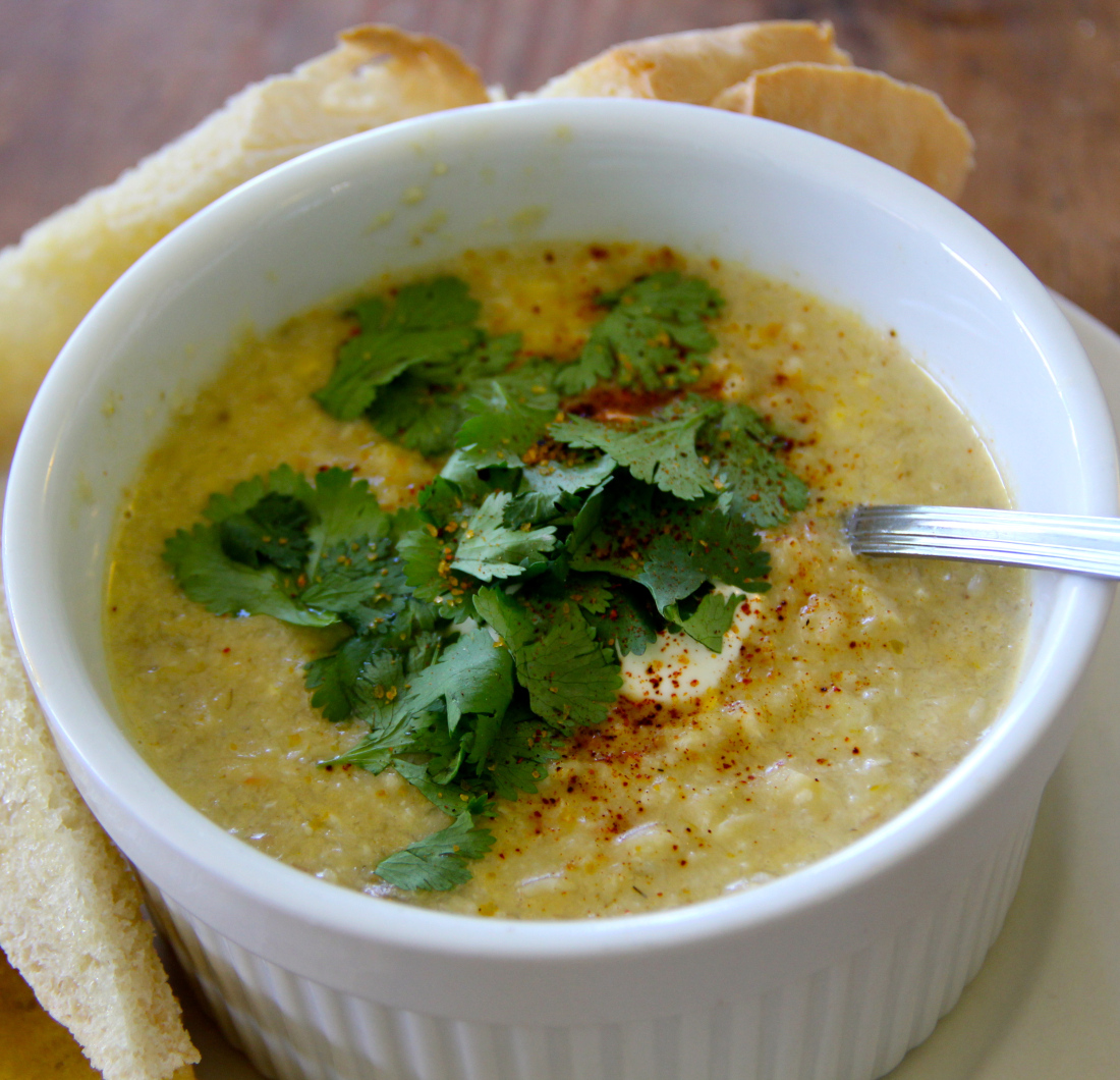 Corn Chowder with Chilies-leave out the bacon and sub chipotle chilis ...